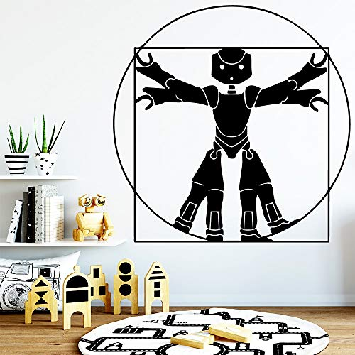 JXLLCD Robot Classic zelfklevend vinylbehang waterdicht PVC sticker decoratie accessoires Muursticker Naklejki na Sciane