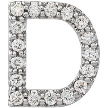 Initial Letter F Sterling Silver Stud Earring Single Earring