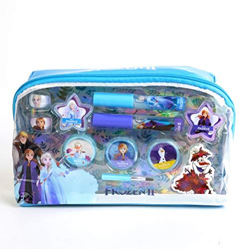 Frozen II Essential Makeup Bag - Set de Maquillaje para Niñas - Maquillaje Frozen - Neceser Maquillaje y Selección de Productos Seguros en un Estuche Muy Moderno