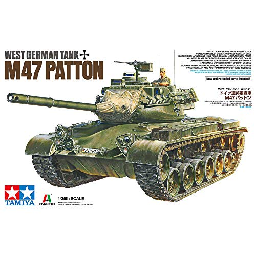 Tamiya 37028 West German Tank M47 Patton 1:35 Kit de Modelo de plástico