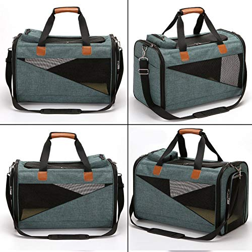 Dog Carrier Bags For Small Dogs Breathable Dog Backpack Outdoor Pet Bag Zipper Pet Cat Shoulder Bag Carrier,1,M