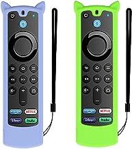 2 Pack Fit Designed for 2021 Fire TV Stick 4K Alexa Voice Remote Control (3rd Gen), Suublg Silicone Remote Case Protective...
