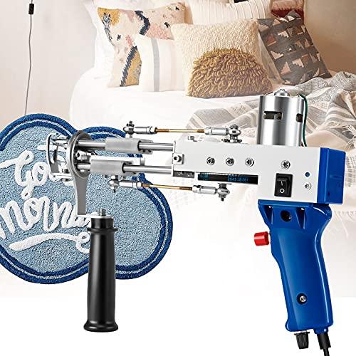 PaNt Pistola de Tufting Pila de Bucle Máquina de Bordado Industrial Pistola Eléctrica para Tejer Alfombras Herramientas de Fabricación de Alfombras, 5-40 Pines/s, para Hogar Tejido de Alfombras