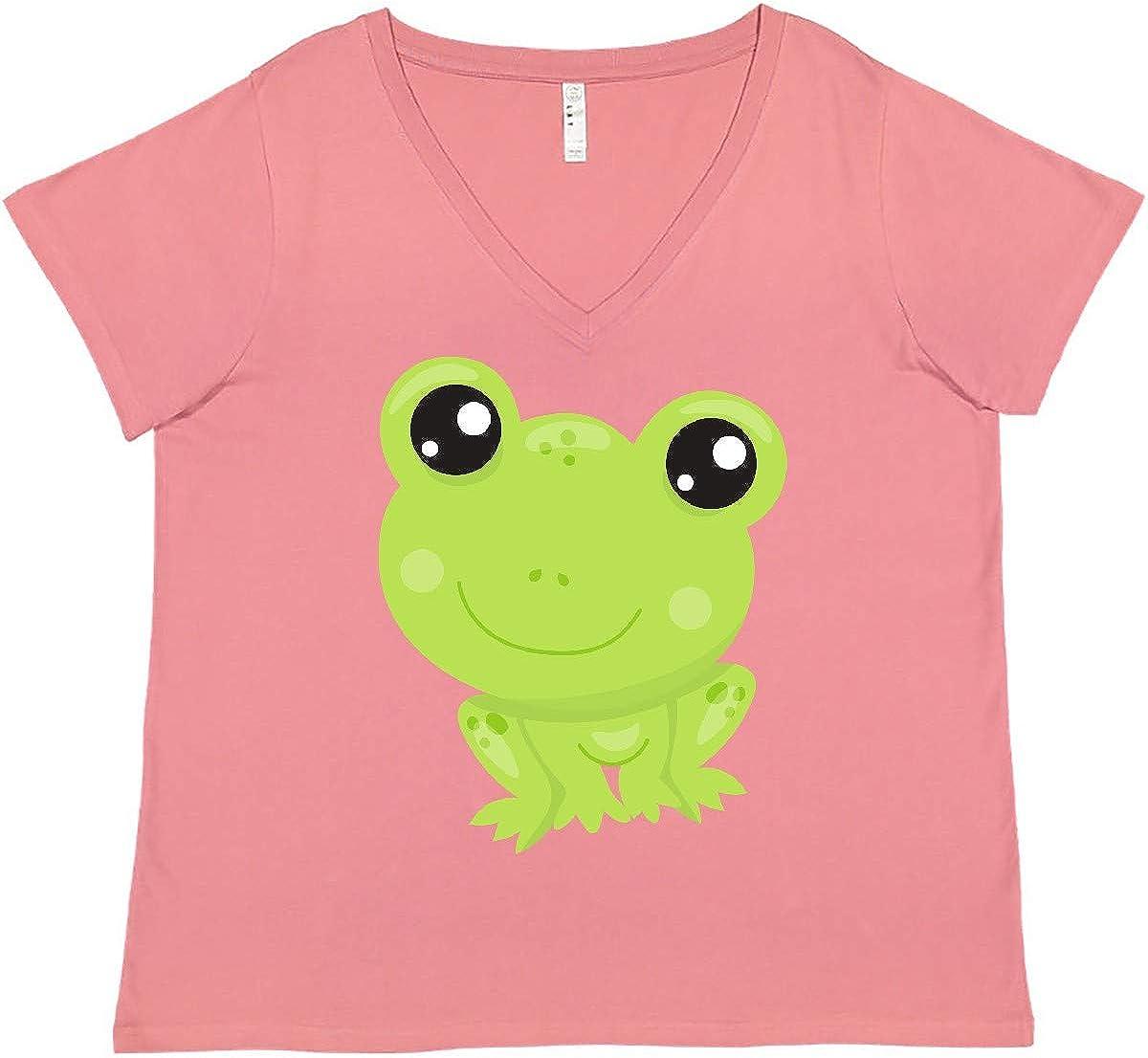 inktastic セール 激安通販専門店 Cute Frog Little Women's Green Baby