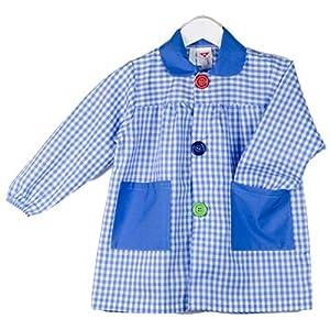 KLOTTZ - BABI CUADROS GUARDERIA Niñas color: CELESTE talla: 7