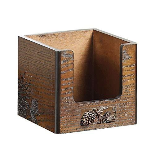 SHYPT Vintage Holz Aufbewahrungsbox, Schminktisch, Kosmetische Finishing-Box,