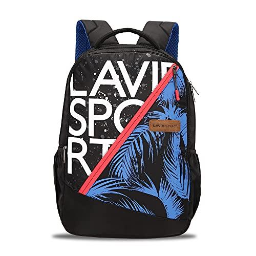 Lavie Sport Beach 34 Ltrs Casual Backpack   School College bag for Boys & Girls (Black)