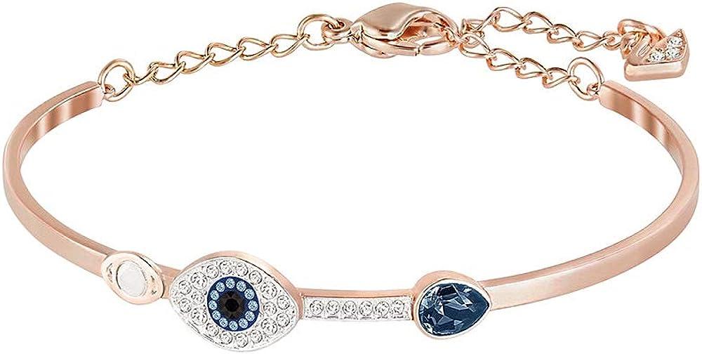 Swarovski symbolic, bracciale rigido per donna, mix di metalli placcati oro rosa e cristalli 5171991