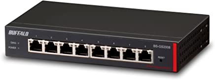 Buffalo 8-Port Gigabit Green Ethernet Web Smart Switch - BS-GS2008 (BS-GS2008)