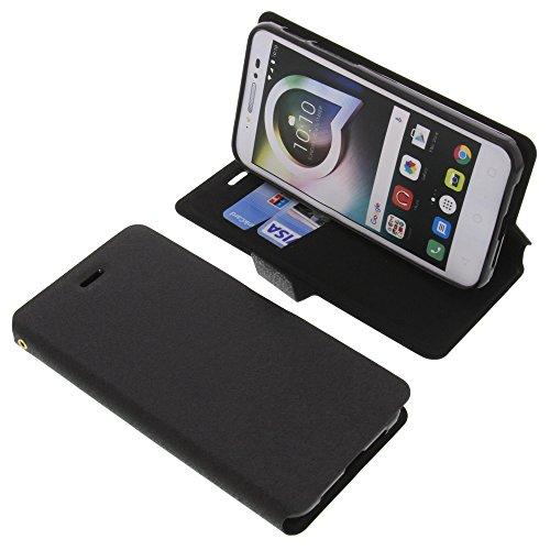 foto-kontor Tasche für Alcatel Shine Lite Book Style schwarz Schutz Hülle Buch