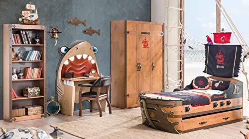 árbol de–Dormitorio completa para niño O Niño–Incluye: Un barco, dos mantas, dos colchones, un Cama, un Armario, Una Escritorio, Una librería, Una silla–[Serie: dafne-pirata]–(Df11)