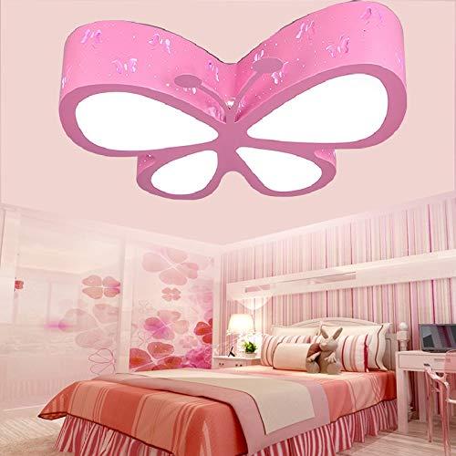 LED-Deckenleuchte für Kinderzimmer Schlafzimmer 24W LED Kreative Schmetterlings-Kindergarten-Mädchen Rosa Prinzessin Room Illumination (ROSA)