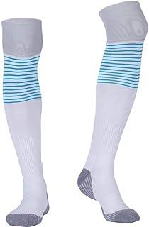 WZDSNDQDY Calcetines de Hombre, Calcetines de fútbol Blancos, Calcetines Deportivos, absorción de Golpes Transpirable Resistente al Desgaste, Nylon