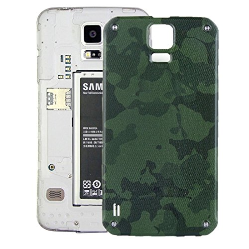 YUWEN Teléfono Móvil Accesorios Tapa Trasera de batería de Repuesto para Samsung Galaxy S5 Active / G870 (Color : Verde)