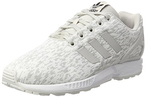 adidas Zx Flux J, Scarpe da Ginnastica Basse Unisex-Bambini, Bianco (Grey One F17/Grey One F17/Ftwr White), 40 EU
