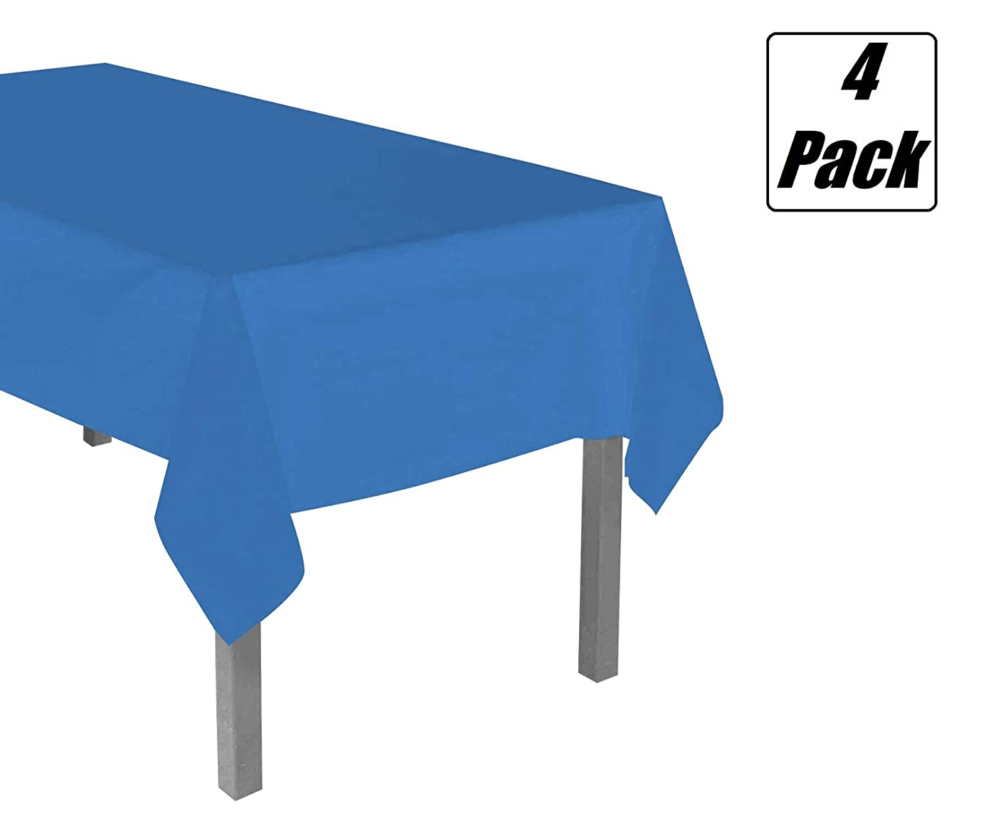 Disposable Plastic Table Covers (4 Pack, 54