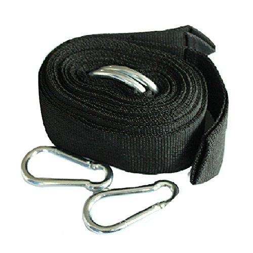 Arbre PREMIUM Hamac Kit de suspension en corde Sangles avec crochets – noir