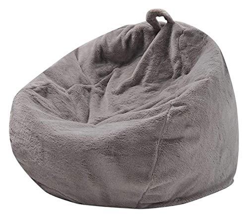 Bolsa Frijoles Cubierta de sofás Perezosos de Piel de Conejo, Funda de sofá de Almacenamiento Suave con Mango tumbonas tumbonas Sillas de Bolso for Adultos y niños, sin Relleno, Blanco