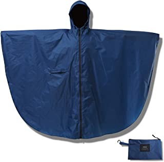 RainRider Rain Poncho for Adults Packable Waterproof Rain Gear Mens Women Travel Rain Coat Jacket with Carabiner