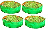 YUVAGREEN Terrace Gardening Leafy Vegetable Grow Bag, 18x8- inch (Green) - Pack of