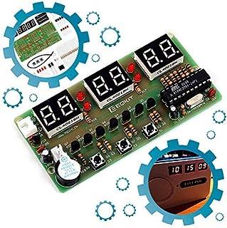 Icstation 6-Digital Clock DIY Soldering Kit, Electronice Clock Kit Great School Science Practice Project Tool, Train Soldering Skills, Back to School Supplies.