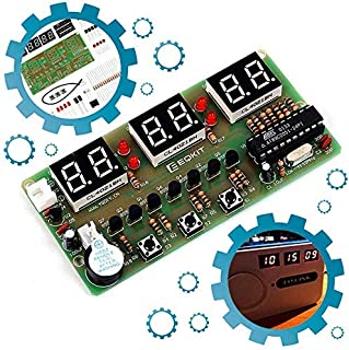 Icstation 6-Digital Clock DIY Electronic Soldering Kit Kids Practice Project STC11F02E Maser Chip PCB Board Learing Kits