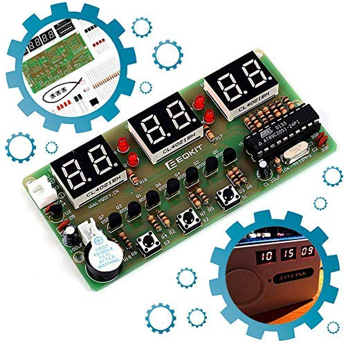 Icstation 6-Digital Clock DIY Electronic Soldering Kit Student Practice Project STC11F02E Maser Chip PCB Board Learing Kits