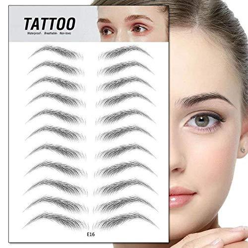 Bloomma 4D Hair Authentic Augenbrauen Shaping Brow Shaper Makeup Imitation Ökologisch Lazy Natural Tattoo Augenbrauenaufkleber Wasserdicht für Frau & Mann Makeup Tool