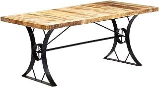 comprar comparacion vidaXL Mango Mesa Comedor Madera Maciza Industrial Vintage Retro Diseño Moderno Rústico Mueble Salón Cocina Interior Exter...