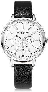 wall clock, Women's Wrist Watches Ladies Series Girls Watch Female for Women Women's Watch Three-Eye Watch Quartz Watch,Co...
