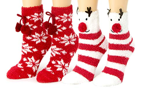 Red Bene Women's Animal Fuzzy Socks