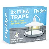 2x ULTIMATE FLEA TRAPS by Fly-Bye + 12 Sticky Discs - Uniquely Powerful 15 Watt Trap - Truly Replicates Animal Body Heat