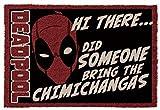 1art1 Deadpool - Hi There, Did Someone Bring The Chimichangas Fußmatte Türmatte 60 x 40 cm