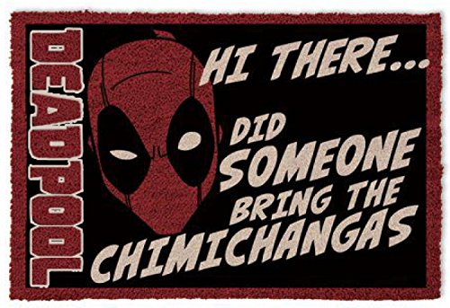 1art1 Deadpool - Hi There, Did Someone Bring The Chimichangas Felpudo Alfombra (60 x 40cm)