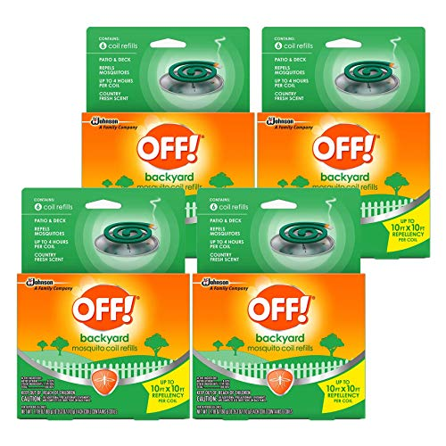 Off!  Country Fresh Scent Mosquito Coil III Refills, 6 refills (Pack of 4)