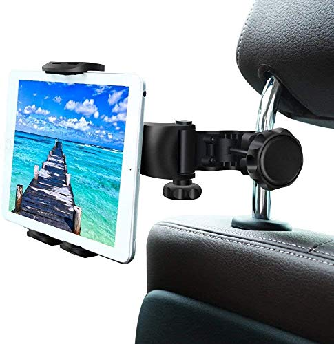 Car Seat Headrest Mount,THYBDB Car Tablet Holder,Universal 360 Rotating Holder Bracket, Car Tablet Stand Cradle for All 4~11' Tablets for Pad Pro Switch,Tab,Samsung,Huawei,Mobile Phones -Black