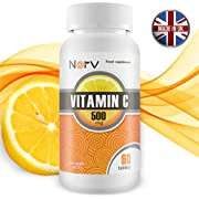 Vitamin C 500 Milligram | 60 Chewable Capsules with Rose hips and Citrus Bioflavonoids | Best Supplements for a Healthy Immune System