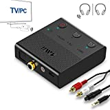 1Mii Bluetooth Adapter for TV, Dual Link Bluetooth 5.0 Transmitter,aptX Low Latency Bluetooth Aux Adapter for PC, TV Home Stereo System