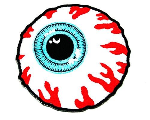 MisHKA Eyeball Logo Aufnäher Bügelbild Applikation Skate Snowboard Beanie Cap Badge mit gratis Geschenk