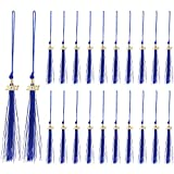 20 Pieces Graduation Tassels with 2021 Year Date Pendants Academic Graduation Cap Tassels for Graduate Caps Hats Parties Ceremonies Souvenir Gifts ( Blue )