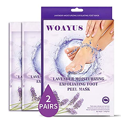 50%OFF  WOAYUS 2 Pack Foot Peel Mask ☑  With Code $4.49
