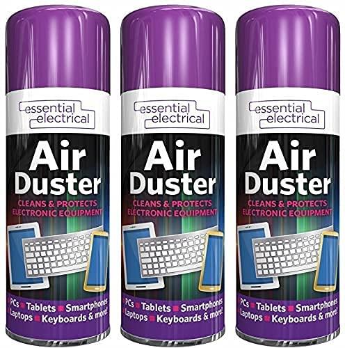 3 pulverizadores de aire comprimido para limpiar ordenadores portátiles, teclados, soplador de polvo, 200 ml