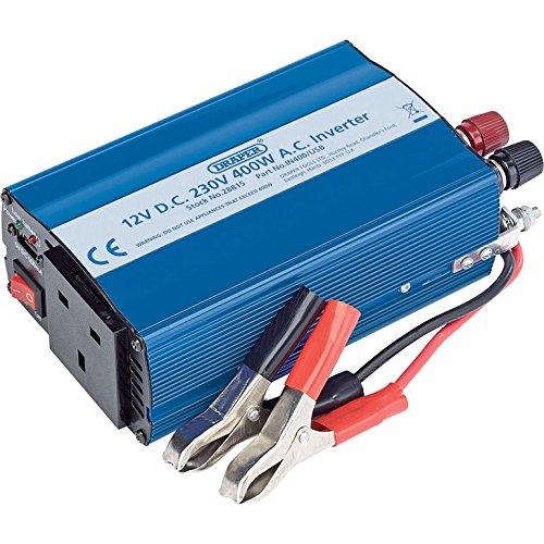Draper 28815 DC to AC Inverter, 12V, 400W