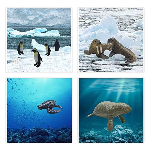 JOLLY SWEETS Sea Ocean Animals Pool Toys Bath Toys 12 Pack Set, Realistic Plastic Marine Figures toy, Sea Life Creature…