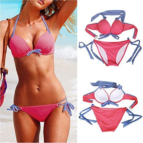 SSITG Twist Push Up Bandeau bikini dames pushup badpak
