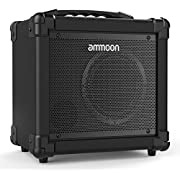 ammoon Guitar Amplifier 10W Portable Electric Guitar Amplifier Amp BT Speaker Supports Clean/Distortion Modes AUX IN Gain Bass Treble Volume Control