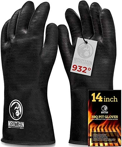 Extreme Heat Resistant Gloves for Grill BBQ High Temperature Fire Pit Grill Gloves Barbecue product image