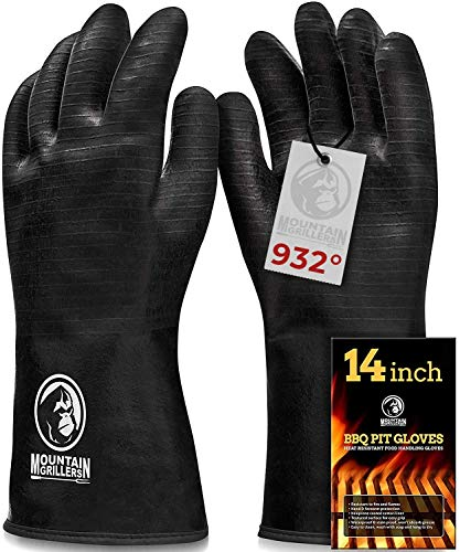 Extreme Heat Resistant Gloves for Grill BBQ - High Temperature Fire Pit Grill Gloves - Barbecue...