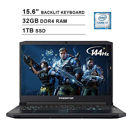 Acer 2020 Predator Helios 300 15.6 Inch FHD Gaming Laptop (9th Gen Intel 6-Core i7-9750H up to 4.5 GHz, 32GB RAM, 1TB PCIe SSD, Backlit Keyboard, NVIDIA GeForce GTX 1660 Ti, WiFi, Win 10) (Renewed)