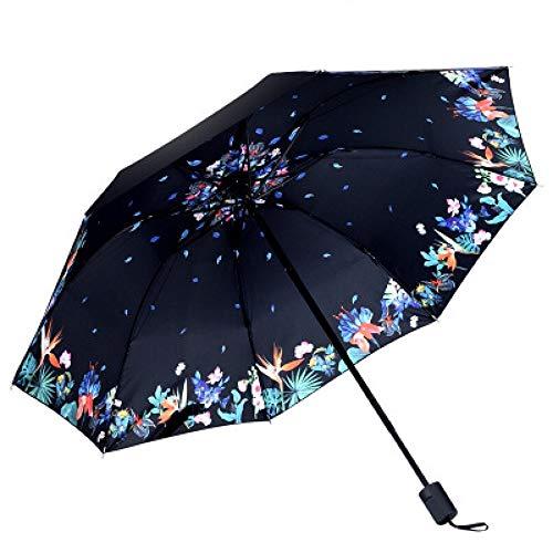 Memory Paraguas, Sombrillas Multifuncionales Individuales Creativos, Paraguas UV Bellamente Modelado, Paraguas Plegable Portátil (Color : B)